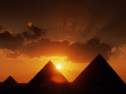 Pyramids At Sunset, Cairo, Egypt
